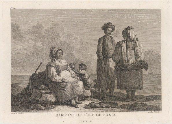Islanders in traditional dress.