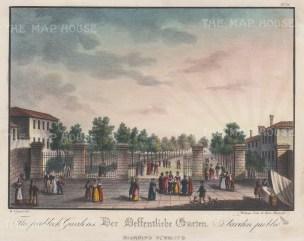 "Vigano: Giardini Pubblici, Venice. 1850. An original colour antique lithograph. 9"" x 7"". [ITp247]"