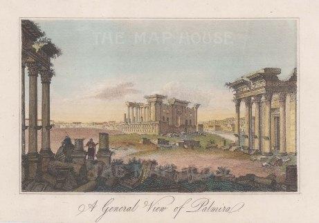 "Anonymous: Palmyra. c1790. A hand coloured original antique copper engraving. 6"" x 3"". [MEASTp1714]"
