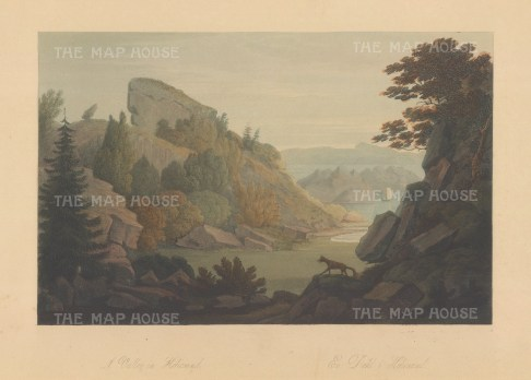 "Boydell: Heliesund, Norway. 1820. An original colour antique aquatint. 14"" x 10"". [SCANp325]"