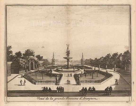 Grande Fountain in the Garden of Aranjuez.