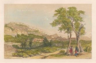 """Vivian: Sagunto (Murviedro). 1838. An original colour antique lithograph. 15"""" x 10"""". [SPp841]"""