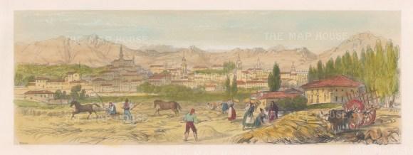 """Vivian: Vitoria. 1838. An original colour antique lithograph. 15"""" x 5"""". [SPp859]"""