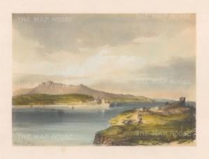 "Vivian: Bay of Biscay. 1838. An original colour antique lithograph. 13"" x 10"". [SPp983]"