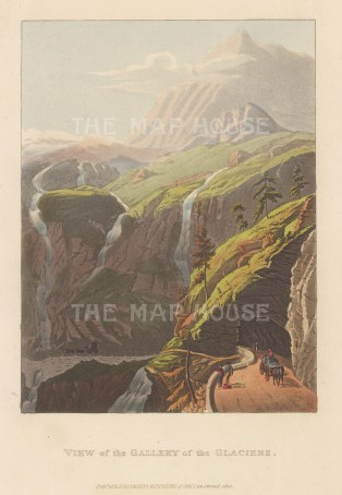 "Ackermann: Simplon, Switzerland. 1820. An original colour antique aquatint. 6"" x 9"". [SWIp756]"