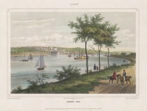 """Kollner: Albany. New York. 1850. A hand coloured original antique lithograph. 13"""" x 10"""". [USAp3147]"""
