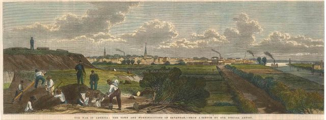 Savannah: The Town and Fortifications during the US Civil War.