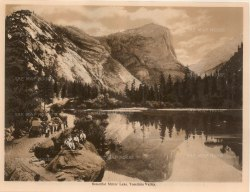 "Anonymous: Mirror Lake, Yosemite. c1910. An original antique photogravure. 8"" x 6"". [USAp4608]"