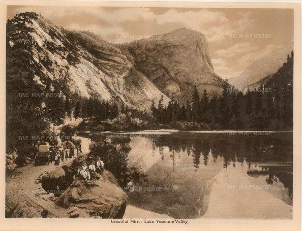"Anonymous: Mirror Lake, Yosemite. c1910. An original antique photogravure. 8"" x 6"". [USAp4608]"