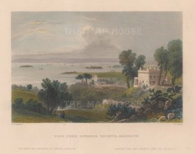 New York Bay: View from Gowanus Heights, Brooklyn.