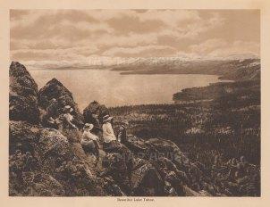 "Anonymous: Lake Tahoe. c1910. An original antique photogravure. 8"" x 6"". [USAp4885]"