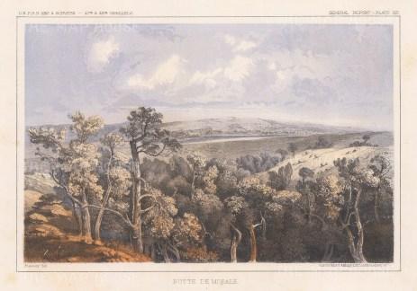 """U.S.P.R.R. Exp.: Butte de Morale, North Dakota. 1857. An original colour antique lithograph. 10"""" x 7"""". [USAp4903]"""
