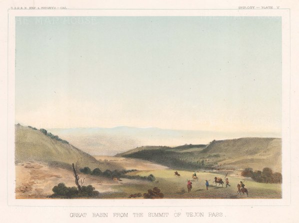 Tehachapi Mountains: View of Great Basin from the summit of the Tejon Pass.