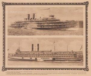 """Steamers: Hudson River Day Line Steamer """"Hendrick Hudson"""" & """"Berkshire""""."""