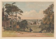 Panorama from Greenwich Observatory: Classic view from Flamsteed House, below the Wolfe statue, over the Thames and the Isle of Dogs to the City an.d St Paul's.
