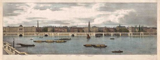 Thames View: Somerset House to Temple: View along the River Thames as illustration of Trench's proposed changes to the Embankment.