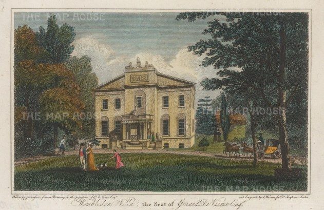 Wimbledon Lodge. View of de Visme house on Murray Road.