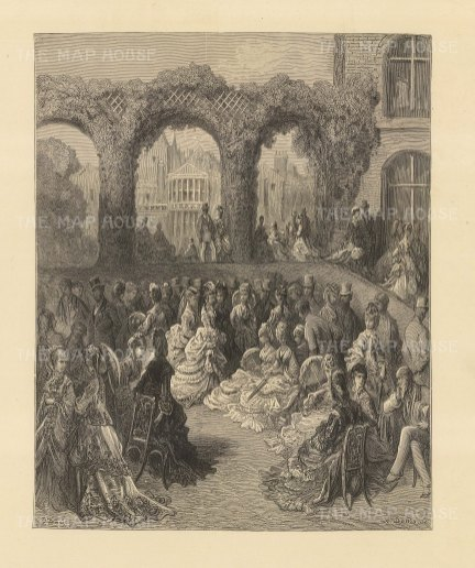 Holland House. A Garden Party. From the famous French artist's four year pilgrimage through London.