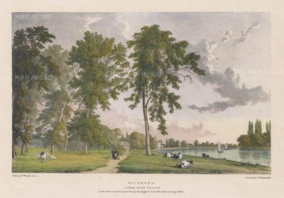 Richmond towards Isleworth. After William Westall, RA