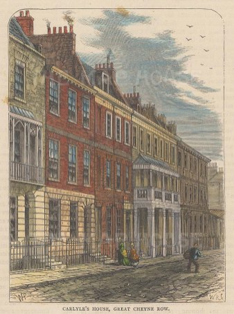Cheyne Row. View of Carlyle's House.