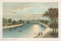 Hyde Park. The Serpentine from the bridge.