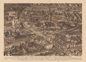 Bird's eye view over Kensington, Queen's Gate and Kensington Gore.