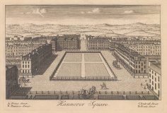 """Stow: Hannover Square. c1750. An original antique copper engraving. 9"""" x 6"""". [LDNp10885]"""