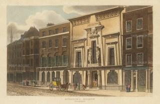 "Papworth: Bullock's Natural History Museum (Egyptian Hall). 1816. An original colour antique aquatint. 8"" x 6"". [LDNp2793]"