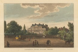 "Papworth: Lansdowne House, Berkeley Square. 1816. An original colour antique aquatint. 8"" x 6"". [LDNp7873]"