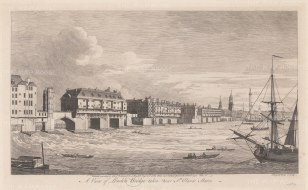 London Bridge: View of the old bridge from near St. Olaf's Stairs.