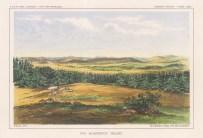 """U.S.P.R.R. Exp.: Black Foot Valley, Montana. A hand coloured original antique lithograph. 10"""" x 7"""". [USAp3421]"""