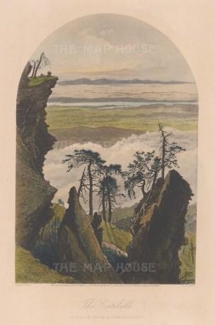 "Picturesque America: Catskills, New York. 1874. A hand coloured original antique steel engraving. 5"" x 9"". [USAp3548]"