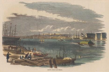 Boston: Panoramic view from East Boston.