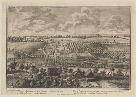 Bethlehem: Panoramic view of the Moravian Protestant settlement established in the mid 18th century.