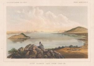 "U.S.P.R.R. Exp.: Upper Klamath Lake, Oregon. 1857. A hand coloured original antique lithograph. 10"" x 7"". [USAp4697]"