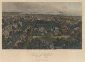Buffalo: Bird's eye view towards Lake Erie.
