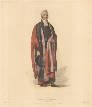 "Ackermann: Doctor in Divinity. 1815. An original colour antique aquatint. 8"" x 10"". [CAMBSp264]"