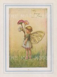 "Barker: Daisy Fairy. 1927. An original vintage chromolithograph. 3"" x 4"". [DECp2172]"