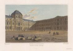 "Lieut. Col. Batty: Louvre. 1820. A hand coloured original antique steel engraving. 9"" x 6"". [FRp1511]"