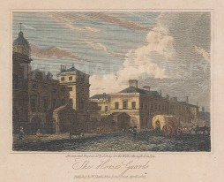 "Greig: Horse Guards. 1817. A hand coloured original antique steel engraving. 4"" x 3"". [LDNp10144]"