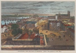 Westminster from the roof of Whitehall in 1807.