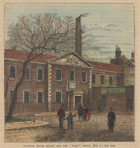 Printing House Square. Times Office in 1870.
