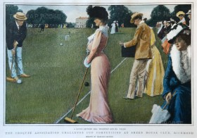 Sheen House Club. Croquet competition