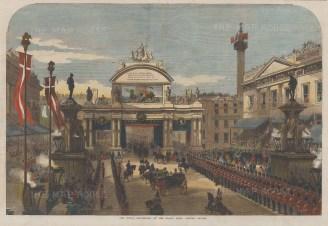 London Bridge. The Royal Procession at the Grand Arch.