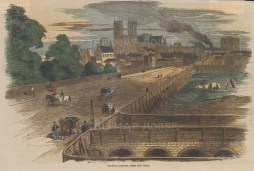 """Illustrated London News: Victoria Street. 1851. A hand coloured original antique wood engraving. 10"""" x 6"""". [LDNp9888]"""