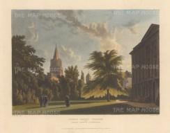 "Ackermann: Corpus Christi College & Christ Church Cathedral. c1814. An original colour antique aquatint. 12"" x 10"".[OXONp715]"