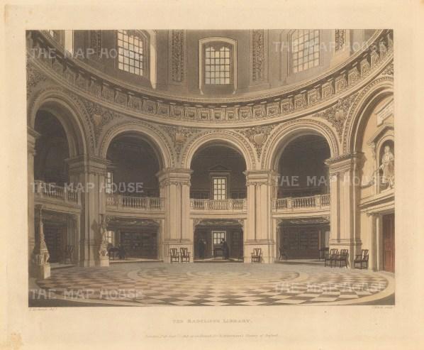 Interior scene of the library's main hall.