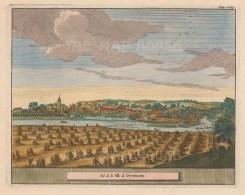 "van der Aa: Dunblane. 1727. A hand coloured original antique copper engraving. 6"" x 4"". [SCOTp1597]"