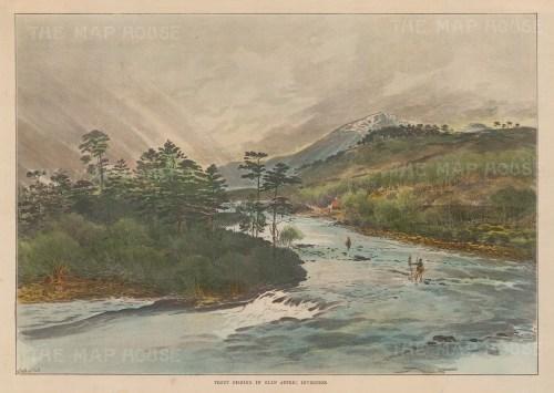 "Illustrated London News: Glen Affric, Inverness. 1895. A hand coloured original antique photo-lithograph. 14"" x 10"". [SCOTp1709]"