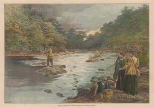 Trout Fishing on the Llugwy at Bettws-y-Coe